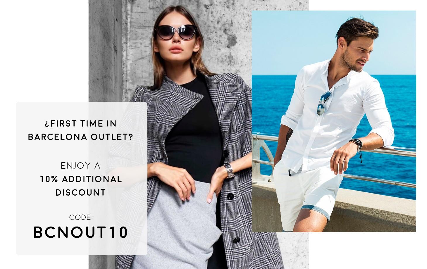10% скидка на вашу первую онлайн покупку на Barcelona Outlet