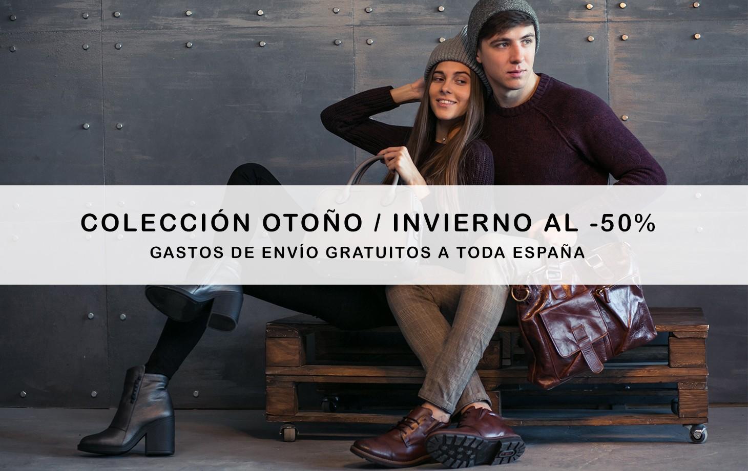 Colección otoño invierno al -50%. Gastos de envío GRATUITOS a toda la España.