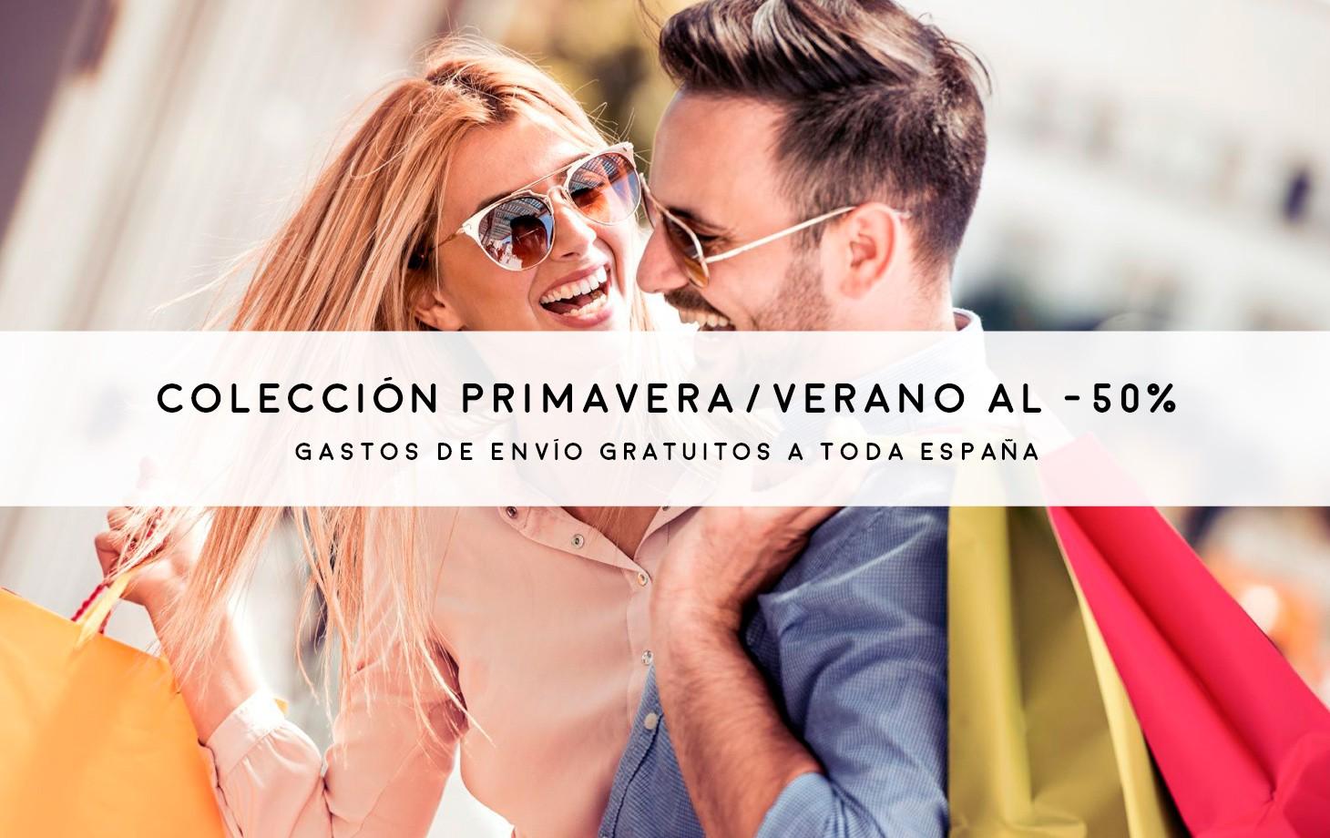 Colección primavera verano al -50%. Gastos de envío GRATUITOS a toda la España.